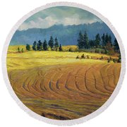 Pine Grove Round Beach Towel