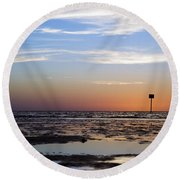 Pine Island Sunset Round Beach Towel