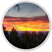 Pine Sunrise Round Beach Towel