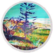 Pine Tree Pandanus Round Beach Towel