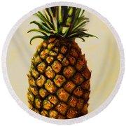 Pineapple Angel Round Beach Towel