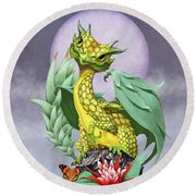 Pineapple Dragon Round Beach Towel by Stanley Morrison