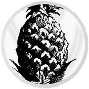Pineapple Print Round Beach Towel