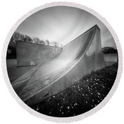 Round Beach Towel featuring the photograph Pinhole Ramp by Will Gudgeon