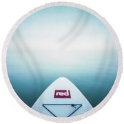 Round Beach Towel featuring the photograph Pinhole Sup - Into The Unknown  by Will Gudgeon