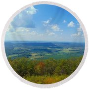 Pinhoti Trail Views Round Beach Towel
