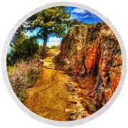 Ponderosa Pine Guarding The Trail Round Beach Towel