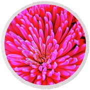 Pink 137 Round Beach Towel