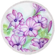 Pink And Purple Round Beach Towel