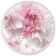 Pink April Round Beach Towel