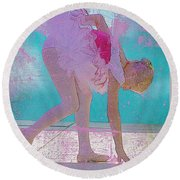 Round Beach Towel featuring the photograph Pink Ballerina by Craig J Satterlee