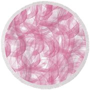 Pink Bliss Abstract Round Beach Towel