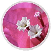 Pink Bougainvillea 2 Round Beach Towel