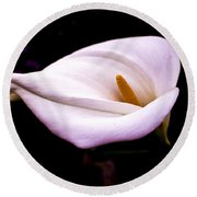 Pink Calla Lily Round Beach Towel