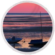 Round Beach Towel featuring the photograph Pink Dawn by Dianne Cowen