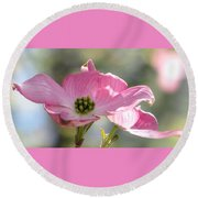 April Waltz Round Beach Towel