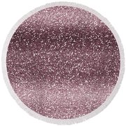 Pink Faux Glitter Ombre Round Beach Towel
