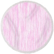 Pink Fiber Round Beach Towel