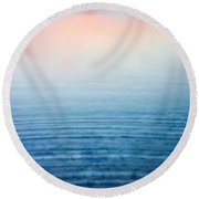 Pink Fog At Sunrise Round Beach Towel by Shelby  Young