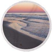 Pink Glow Seaside New Jersey 2017 Round Beach Towel