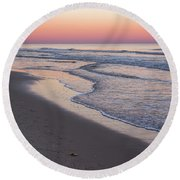 Pink Glow Seaside New Jersey 2017 Round Beach Towel