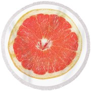 Pink Grapefruit Round Beach Towel