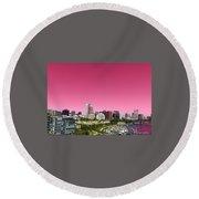 Portland Pink Round Beach Towel