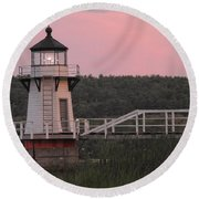 Pink In The Morning Round Beach Towel
