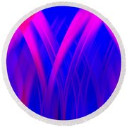 Round Beach Towel featuring the digital art Pink Lacing by Carolyn Marshall
