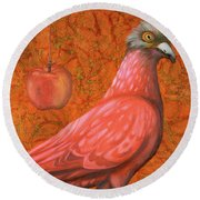 Pink Lady Round Beach Towel by Leah Saulnier The Painting Maniac