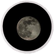 Round Beach Towel featuring the photograph Pink Moon by David Bearden
