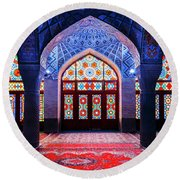Pink Mosque, Iran Round Beach Towel