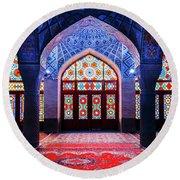 Pink Mosque, Iran Round Beach Towel