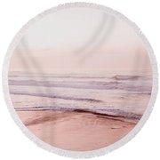 Pink Pacific Beach Round Beach Towel