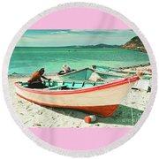 Pink Panga Of La Paz, B.c.s. Round Beach Towel