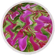 Pink Party Round Beach Towel
