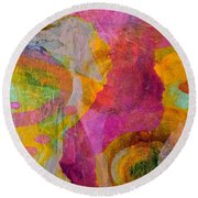 Pink Passion Round Beach Towel