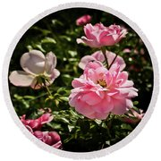 Round Beach Towel featuring the photograph Pink Passion  by Joann Copeland-Paul