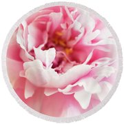 Round Beach Towel featuring the photograph Pink Peony 2 by Elena Nosyreva