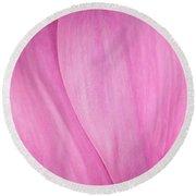 Pink Peony Perfection Round Beach Towel