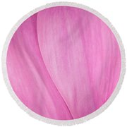 Pink Peony Perfection Round Beach Towel