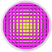 Pink Polynomial Round Beach Towel