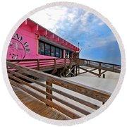 Pink Pony Round Beach Towel