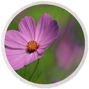 Pink Profile Round Beach Towel