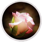 Pink Rose 2 Round Beach Towel