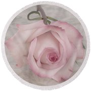 Pink Rose Beauty  Round Beach Towel by Sandra Foster