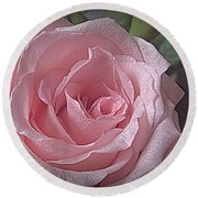 Pink Rose Bliss Round Beach Towel