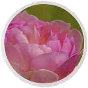 Pink Rose #d3 Round Beach Towel