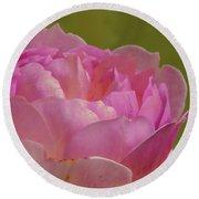 Pink Rose #d3 Round Beach Towel
