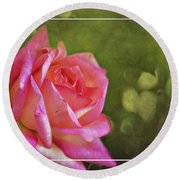 Pink Rose Dream Digital Art 3 Round Beach Towel